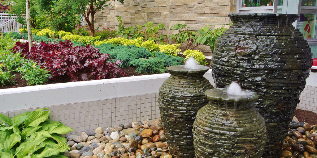 Small Water Feature - Stacked Urns